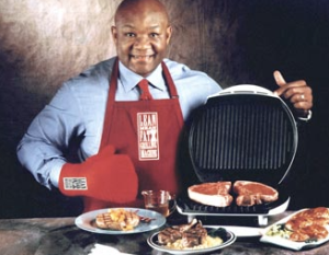 George Foreman and his grill