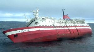 Tourist Vessel off the coast of Antarctica - 2007