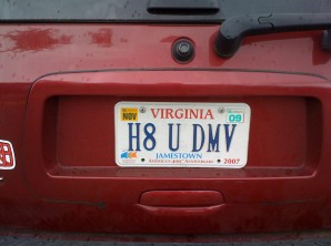 Alan's next license plate?