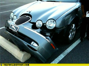 It was like this, but not a Jag...