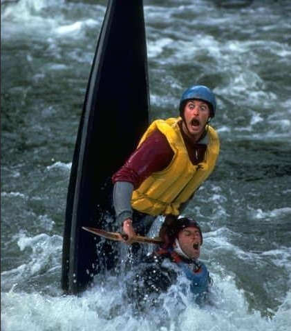 How I pictured our kayaking experience...