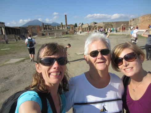 Us, Vesuvius and Pompeii. Boom.