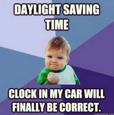 Daylight Saving Time baby meme