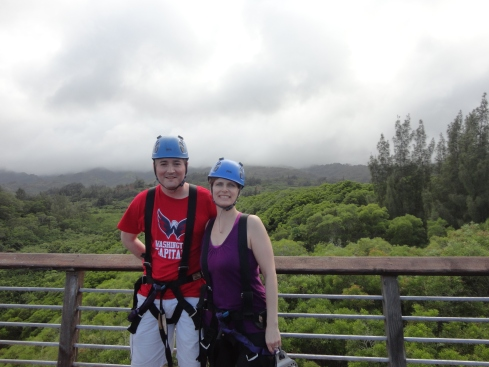 Ziplining at Climbworks Oahu