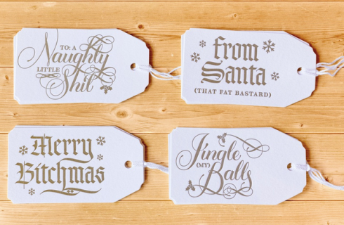 Holiday Gift Tags from Calligraphuck