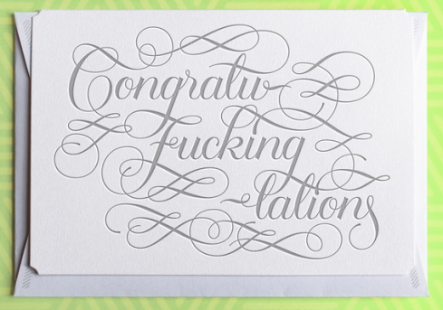 Congratulatory card by Calligraphuck