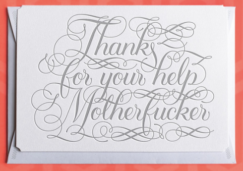 Thank You card - by Calligraphuck